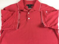 Nike Golf Polo Shirt Mens SZ M/L Off Red Casual Early Dri-Fit Ribbed 3 Button