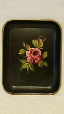 """E.T. Nash Co Handpainted Tole Serving Tray - 13-1/4"""" x 10-1/2"""" x 1"""""""