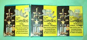 Vintage Christmas ANGEL CHIME     CANDLES    8 Per box  HONG KONG