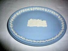 Wedgwood Light Blue Jasperware 'St. Andrews Scotland' Oval Plate, New orig. Box