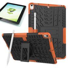 Hybrid Outdoor Hülle Orange für Apple iPad Pro 10.5 Tasche + 0.4 H9 Panzerglas