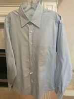 Ermenegildo Zegna Comfort Fit White Blue checkered Dress Shirt EU 42/16.5