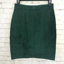 Dark Green Emerald Leather Skirt 9-10 International Leather Collection New NWT