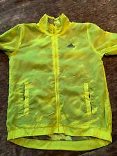 Adidas Youth Boys Size 7/8 Volt Camo Full Zip Windbreaker Jacket 3 Stripe EUC