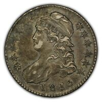 1813 50c Capped Bust Silver Half Dollar - O-103 - XF+ Coin - Attractive Toning