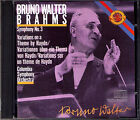 Bruno WALTER BRAHMS Symphony No.3 Haydn Variations Columbia CBS CD Made in Japan