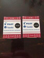 Pilot Namiki IC100 Fountain Pen Ink Cartridge Black 12 Cartridges per Pack Pa...