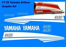 1977 78 Yamaha Enticer Reproduction Decal Kit 340 Snowmobile
