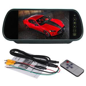"7"" TFT LCD HD Rear View Mirror Monitor For Car Reversing Backup Camera & Remote"