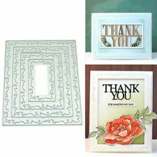 Decorative Frame DIY Metal Cutting Dies Stencil Scrapbooking Photo Album Stamp