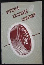 AUTOMOBILES LIVRET PUBLICITAIRE PNEUS LA RAYONNE de 1951