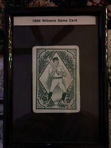 1889 Williams Game Card