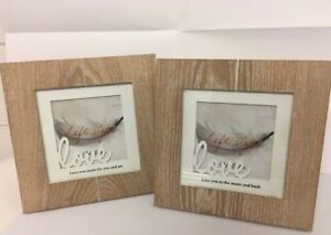 Photo Picture Frame Love Wooden Shabby Chic Rustic Gift Birthday Valentines