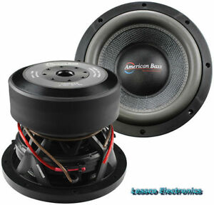 "American Bass HD10D1A V2 10"" Wooofer, 320oz Magnet 4000 Watt Max Dual 1OHM"