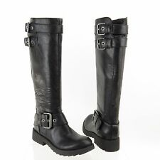 Women's Nine West Aragosta Shoes Black Synthetic Round Toe Boots Size 4.5 M NEW!