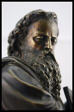 "c.1880 DUCHOISELLE "" THE CALLING of SAMUEL"" FRENCH BRONZE SCULPTURE JUDAÏCA ELI"