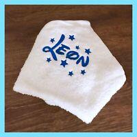Waschlappen mit Namen Baby Latz Geschenk Lätzchen Tücher Seiflappen,Taufe