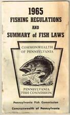 Vtg 1965 Fishing Regulations & Summary of Fish Laws Pennsylvania