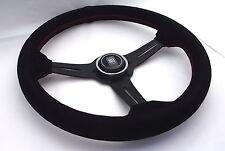 Nardi estilo 330mm Gamuza Medio Plato volante OMP MOMO Negro