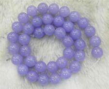 "Purple 8 mm Violet Lavender Jade Gemstone Round Loose Beads 15"" Strand"