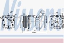 Kompressor Klimaanlage - Nissens 89032