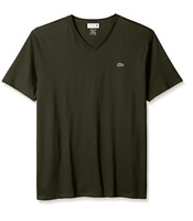 Lacoste Men's Short Sleeve V Neck T-Shirt Sherwood Pima Jersey size 2 / XS