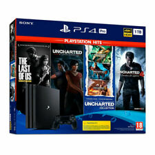 Sony PlayStation 4 Pro 1TB Consola PlayStation Hits Pack (The Last of Us: Remasterizado, Uncharted: El Legado Perdido, Uncharted: the Nathanl Drake Collection, Uncharted 4: El Desenlace del Ladrón) – Jet Black