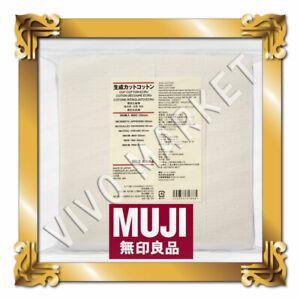 MUJI Authentic Premium Japanese Organic Cotton 100% Unbleached  180 sheets
