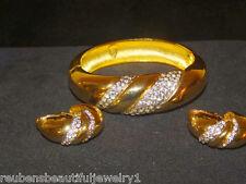 Vintage signed LANVIN PARIS Bracelet&Earrings Runway Haute Couture&exceptional