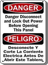 "Danger Sign - Disconnect Power - 10""x14"" Bilingual OSHA Sign"