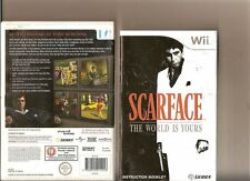 SCARFACE: The World is Yours (18) 2007  Ssierra Nintendo Wii Game