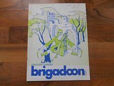 Old Vintage 1971 Premontre High School Brigadoon Program Green Bay Wisconsin