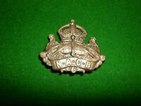 NAVY ARMY CANTEEN BOARD (EARLY NAAFI) NACB BRASS CAP BADGE BRITISH MILITARY LUGS
