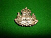 NAVY ARMY CANTEEN BOARD (EARLY NAAFI) NACB BRASS CAP BADGE BRITISH MILITARY LUGS