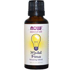 Mental Focus Oil Blend, 1 oz - NOW Foods Essential Oils