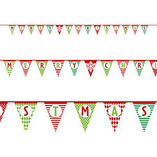 14ft Merry Christmas Party Multi Patterned Festive Pennant Flag Banner Bunting