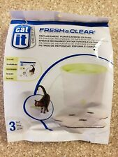 Catit Replacement 3 pack Carbon & Foam Cartridge Fresh & Clear Water Fountain