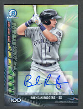 2017 Bowman Chrome Brendan Rodgers Scouts Top 100 Auto /50 Rockies