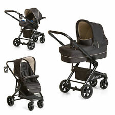 New HAUCK BLACK ATLANTIC PLUS 3IN1 TRIO 2 WAY FACING  PUSHCHAIR PRAM SET BLACK