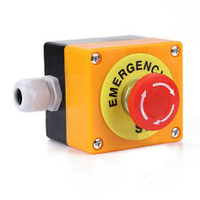Red Sign Mushroom Cap Emergency Stop Push Button Switch 1 NO 1 NC 10A 660V