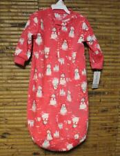 Christmas Pajamas Girls 0-9 Month Carter's Sleepwear Snowman Pink Sleep Bag NWT