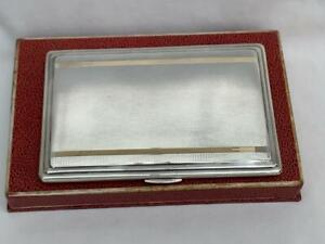 Outstanding Solid Sterling Silver Cigarette Case By W T Toghill & Co.