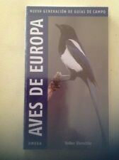 Aves De Europa. Nueva Generación De Guías De Campo. Ed Omega