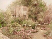 Lovely LENA LIU Vintage S/N Limited Edition Print 566/2950 Garden Path
