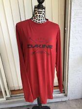 Dakine Mens Graphic logo Long Sleeve Shirt Large Rust Red