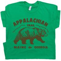 Mountain Life T Shirt Hiking Size S L Green Hiker Rock