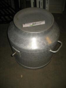 140 Liter mobil Milchtank Milchauffangbehälter Sauermilchtank Tank Aluminium