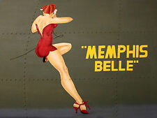 "ALUMINIUM SIGN  8 x 6"" - MEMPHIS BELLE TYPE NOSEART"