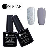 2Bottles/Set Glitter Nail UV LED Gel Polish Soak Off  Decor DIY UR Sugar