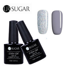 2Bottles/Set Glitter Nail UV LED Gel Polish Soak Off Manicure Decor DIY UR Sugar